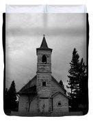 Black And White Church In Williston North Dakota. Duvet Cover