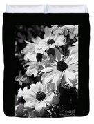Black And White Coneflowers Duvet Cover