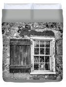 Black And White Cottage Window Duvet Cover