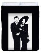 Black And White Couple Duvet Cover