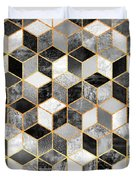 Black And White Cubes Duvet Cover
