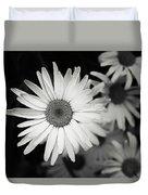 Black And White Daisy 1 Duvet Cover