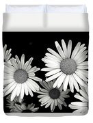Black And White Daisy 2 Duvet Cover