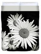 Black And White Daisy 3 Duvet Cover