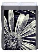 Black And White Daisy  Duvet Cover