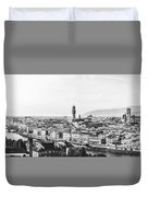 Black And White Florence Italy Duvet Cover