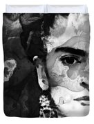 Black And White Frida Kahlo By Sharon Cummings Duvet Cover