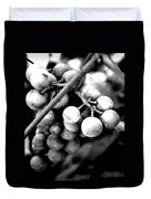Black And White Grapes Duvet Cover