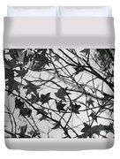 Black And White Leaves Duvet Cover