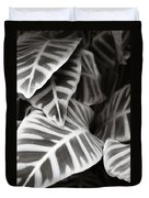 Black And White Leaves Duvet Cover
