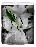 Black And White Life Duvet Cover
