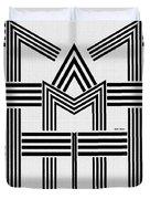 Black And White M Duvet Cover
