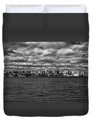 Black And White Mad Town Duvet Cover