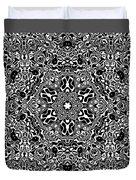 Black And White Mandala 34 Duvet Cover by Robert Thalmeier