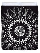 Black And White Mandala No. 1 Duvet Cover
