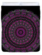 Black And White Mandala No. 3 In Color Duvet Cover