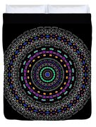 Black And White Mandala No. 4 In Color Duvet Cover