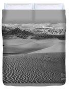 Black And White Mesquite Sand Dunes Duvet Cover