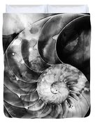 Black And White Nautilus Shell By Sharon Cummings Duvet Cover