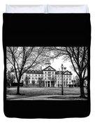 Black And White - Old Main - Widener University Duvet Cover