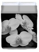 Black And White Orchids Duvet Cover