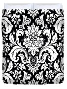 Black And White Paisley Pattern Vintage Duvet Cover