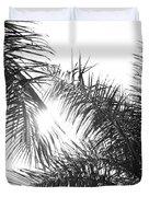 Black And White Palm Trees Duvet Cover
