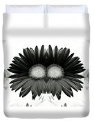 Black And White Petals Duvet Cover