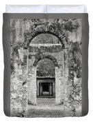 Black And White Photograph Beaufort Historic Church - Chapel Of The Ease Duvet Cover