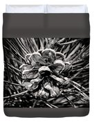 Black And White Pine Cone Wall Art Duvet Cover
