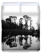 Black And White Reflected Duvet Cover