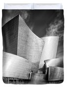 Black And White Rendition Of The Walt Disney Concert Hall - Downtown Los Angeles California Duvet Cover