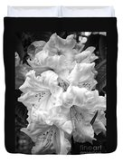 Black And White Rhododendron Duvet Cover