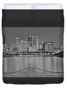 Black And White Riverfront 2017 Duvet Cover
