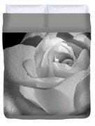 Black And White Rose Duvet Cover