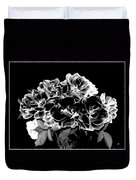 Black And White Roses Duvet Cover