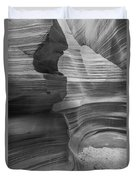 Black And White Sandstone Art Duvet Cover