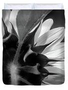 Black And White Sinflower 6 Duvet Cover