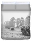 Black And White Snow Landscape Duvet Cover