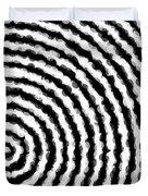 Black And White Spiral Duvet Cover