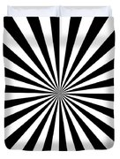 Black And White Starburst Duvet Cover