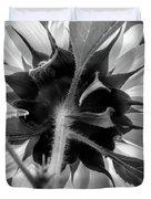 Black And White Sunflower 5 Duvet Cover