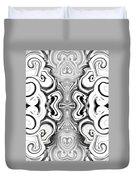 Black And White Symmetry   Duvet Cover