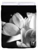 Black And White Tulips #4 Duvet Cover