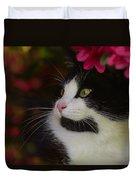 Black And White Tuxedo Cat Duvet Cover
