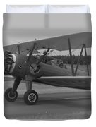 Black And White Us Aircraft Duvet Cover