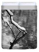 Black And White Winter Mood Duvet Cover
