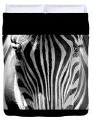 Black And White Zebra  Duvet Cover