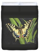 Black And Yellow Butterfly Duvet Cover