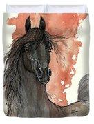 Black Arabian Horse 2013 11 13 Duvet Cover
